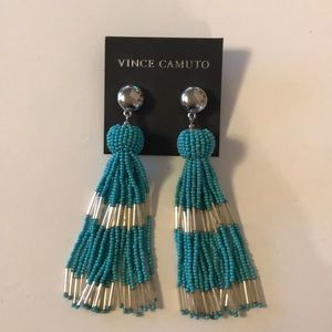 Vince Camuto turquoise tassel earrings